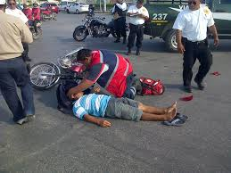 Accidente motocicleta...