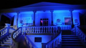 iluminación azul