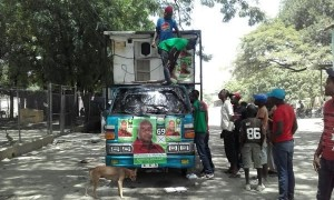camión con promoción haitiana