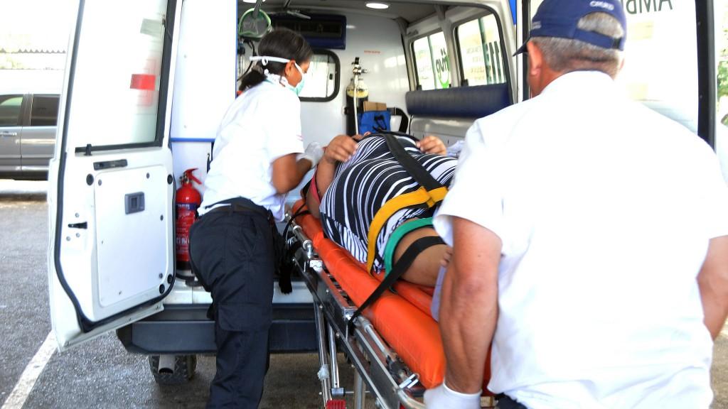 911 asiste embarazada