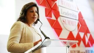 Margarita Cedeño durante conferencia