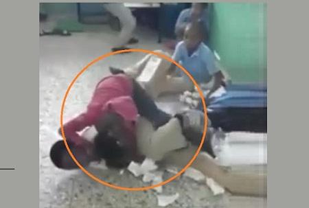 Violencia en escuela RD
