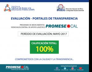 Promese obtiene calificación 100%