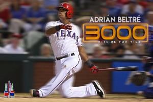 Adrián Beltré batea su hit 3000