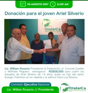 Fenabanca entrega donativo