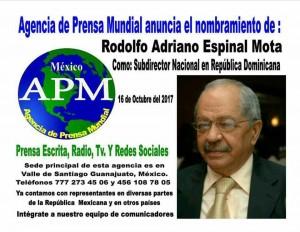 APM designa a Rodolfo Espinal