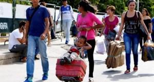 Venezolanos emigran por tierra