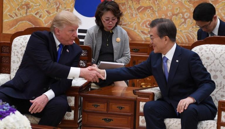 Donald Trump en Seúl