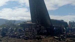 Avión accidentado en Argel