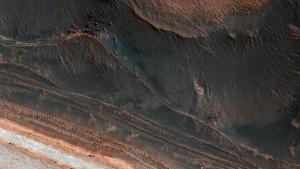 Foto alcantilado de Marte