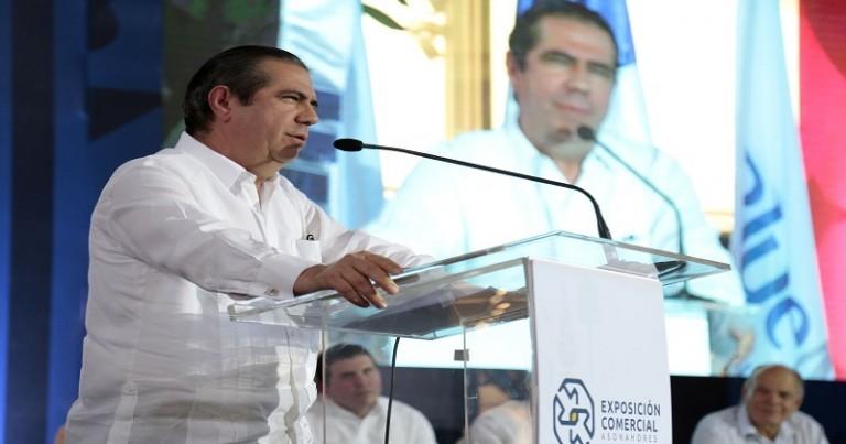 Francisco Javier García en feria Asonahores