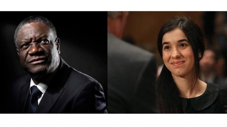 El congoleño Denis Mukwege y la iraquí Nadia Murad han ganado el Nobel de la Paz