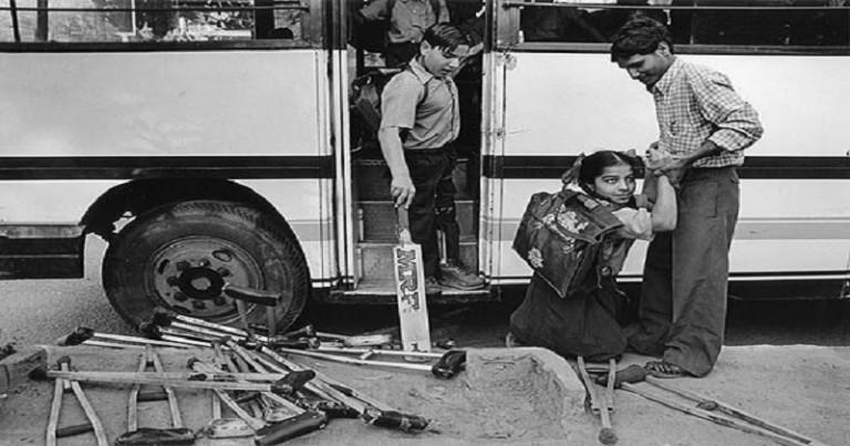 Niños afectados por Polio