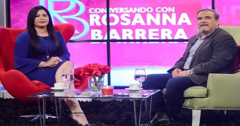 Rosanna Barrera con Elías Wessin Chávez