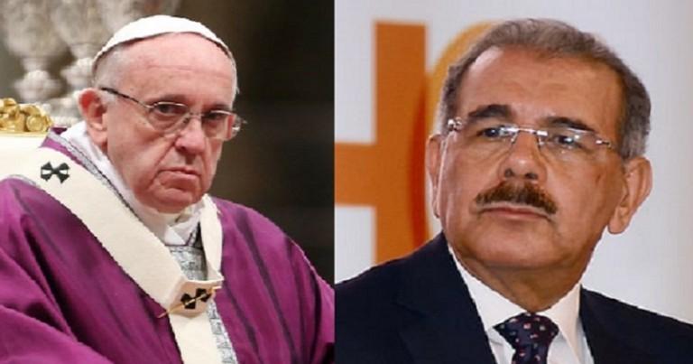 Danilo Medina y el papa Francisco