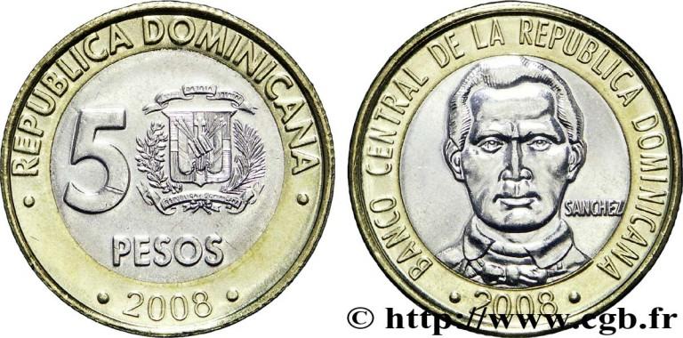 Moneda cinco pesos dominicanos
