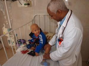 Una sala pedriatrica hospital de Cuba