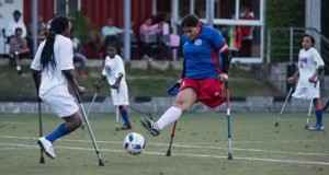 Equipo de futbolistas amputadas de Haití