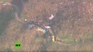 Imágen donde cayó helicóptero de Kobe Bryant
