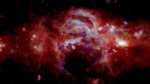 Imagen infrarroja compuesta del centro de nuestra Vía Láctea