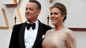El actor Tom Hanks y su esposa Rita Wilson