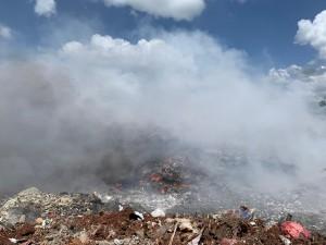 Incendio en vertedero de Haina