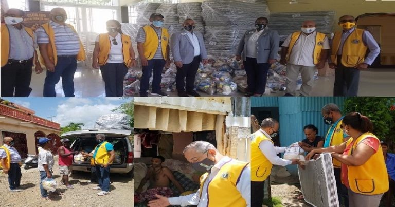 Clubes de Leones entregan ayudas en región Este