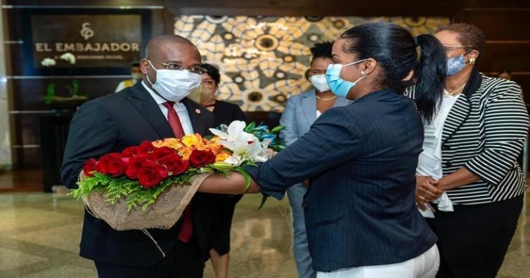 Canciller de Haití Claude Joseph arribó este domingo al país