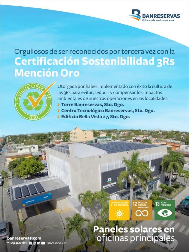 BR reconocidos por 3ra vez con la Certificación Sostenibilidad 3R´s