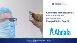 Cuba inicia III fase de pruebas vacuna Abdala