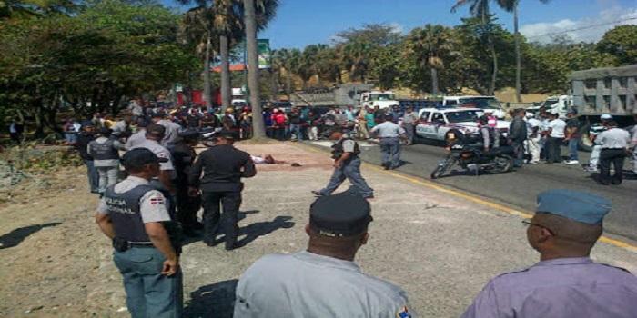 Policía mata supuesto atracador