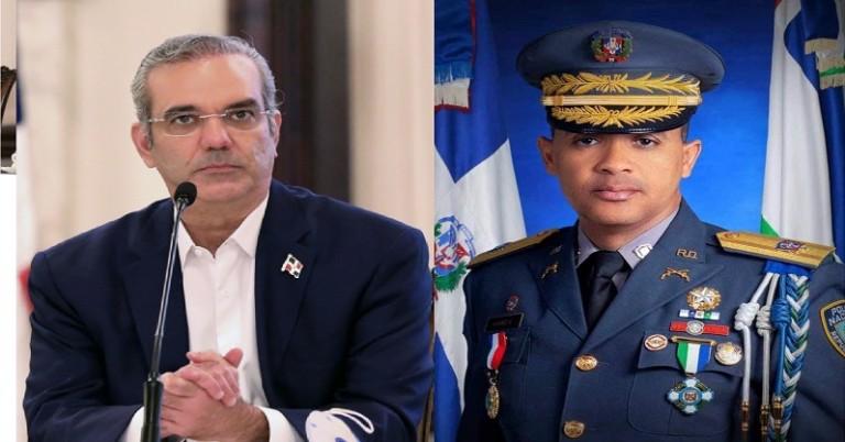 Abinader y el director de la Policía