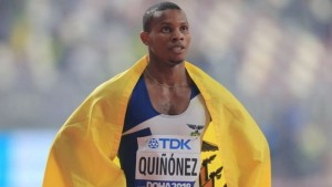 Velocista olímpico ecuatoriano Álex Quiñónez